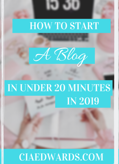 how to start a blog cia edwards